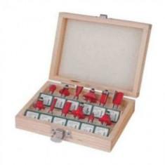 Set freze lemn , prindere 6,35 mm , 12 piese