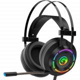 Casti Gaming Marvo HG9062, iluminare Rainbow, USB, Microfon (Negru)