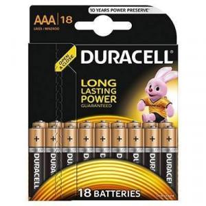 Baterie Duracell Basic AAA LR03 18buc Negru