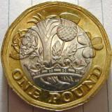 Marea Britanie, 1 lira 2017_Elisabeta a II-a * cod 168, Europa, Cupru-Nichel