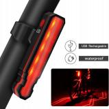 Stop Bicicleta, Proiectare Polilinii Laser pe Asflat, 5 x LED 3528, IPX- 5 Rezistent la Apa si Praf, 15 Moduri luminare, Functie Laser, 3.7V 500 mAh,