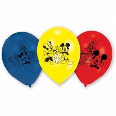 Baloane Mickey Mouse din latex 23cm imprimate set 6 buc