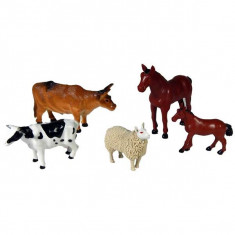 Jucarie Set 5 animale domestice din plastic