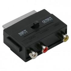 Adaptoare EURO / RCA soclu 3 RCA - fisa EURO-SCART foto