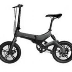 Bicicleta electrica ONEBOT S6, Viteza maxima 25 kmh, Autonomie 50-70 km, Motor 250 W, Display OLED, Far LED, Baterie LG, Roti 16inch, Pliabila (Negru)