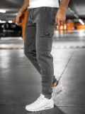 Cumpara ieftin Pantaloni de trening cargo gri bărbați Bolf JX8709