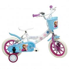 "Bicicleta copii Mondo cu roti ajutatoare 12""- Frozen"