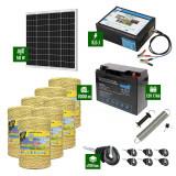 Pachet Gard electric 8,5J putere cu Panou Solar si 7000m de fir 160Kg