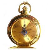 Cumpara ieftin Ceas de Buzunar cu simboluri masonice - Auriu