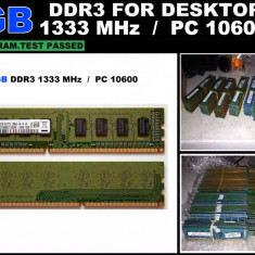 Memorie RAM DDR3 Calculator 2GB PC3-10600 1333MHz non-ECC CL9