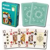 Carti de poker Modiano Cristallo 4 Jumbo Verde 100% plastic