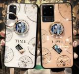 Husa cu pietricele + inel model TIME pt Samsung Galaxy S20, S20+, S20 Ultra