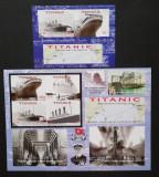 TONGA- Dezastrul Titanic,1 M/Sh.+1 S/Sh.Neobliterat-Nedantelat-T 42