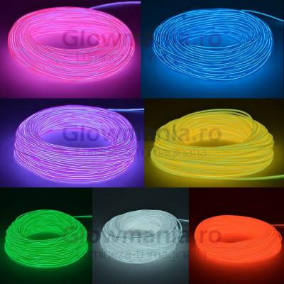 Fir electroluminescent neon flexibil EL wire 5 mm foto
