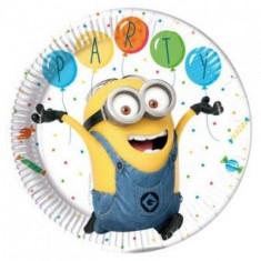 Farfurii Minions Balloons din carton 23cm set 8 buc