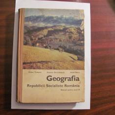 "AF V. TUFESCU & C. GIURCANEANU & A. BANU ""Geografia RSR / Manual Anul IV"" / 1974"