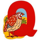 Magnet cu animale - Litera Q | Bigjigs Toys