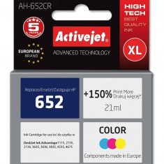 Cartus compatibil HP 652 XL Color pentru HP, 21 ml, Premium Activejet, Garantie 5 ani