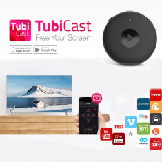 Media player TUBICAST, Full HD, Android, HDMI, Wi-FI, 1 GB, imagini si video pe TV