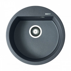 Chiuveta de bucatarie Pyramis Granit Alazia - Iron Grey Ø510mm