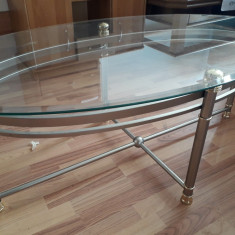 Masa ovala din sticla, second-hand