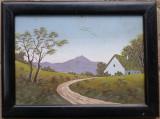 Peisaj cu casa taraneasca - nesemnat, Peisaje, Guasa, Altul