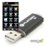 Flash Drive USB X-Depo Soft Eego, 16 GB, Platinet