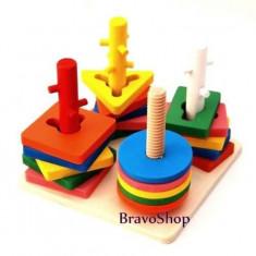 Forme lemn geometrice, jucarie creativa - Distractie pentru copii