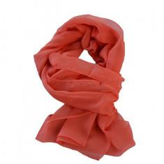 Esarfa fashion de culoare corai,pudra,bej din material fin, lucios