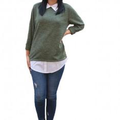 Bluza Ania casual-bussines din tricot ,nuanta de verde