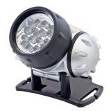 Lanterna frontala, 19 LED-uri lumina alb rece, 4 moduri iluminare, Home