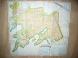 Harta mare a Municipiului Brasov si Poiana Brasov ,dim.=67x73cm