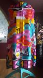 ESARFA VINTAGE REMOY D'URVILLE PARIS SEMNATA CROMATICA SUPERBA, Multicolor