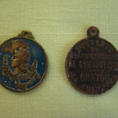 2 Plachete / Medalii FRANTA 1905 / ITALIA 1946