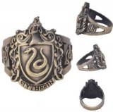 Inel Vintage Bronz HARRY POTTER Handmade Style - Slytherin- Marimea 18