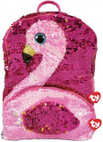 Rucsac de plus cu paiete flamingo Gilda Ty
