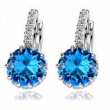 Cumpara ieftin Cercei eleganti cu cristale bleu