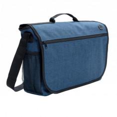 Geanta de postas, compartiment spatios, curele ajustabile, Everestus, FN, poliester 600D, albastru, saculet si eticheta incluse
