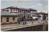 #2487- Romania, Galati, carte postala circulata 1921: Liceul Alexandri, animat