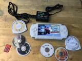 CONSOLA SONY PSP-1004 + JOCURI GTA ETC + INCARCATOR + CARD SONY