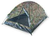 Cort camping 2 persoane, tip Iglu, Camuflaj, 200x150x105 cm