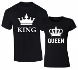 Set de tricouri negre KING and QUEEN BIG COD ST605
