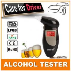 Alcool tester digital negru, 5 rezerve ( mustiucuri )