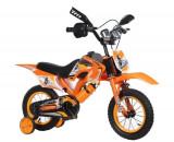 Bicicleta Copii Moto Portocaliu Negru 12