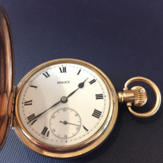 Rolex Lever 1930 Ceas Buzunar Placat cu Aur Piesa Originala !!!