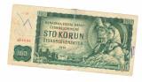 Bancnota Cehoslovacia 100 korun 1961, circulata