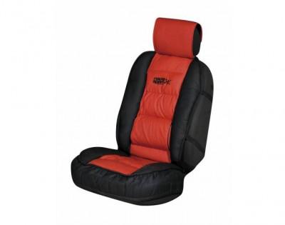 Husa scaun auto Race Sport Rosu cu suport lombar pentru scaunele din fata , 1 buc. foto