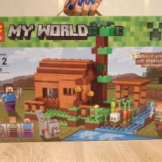 NOU/SIGILAT - Set de 322 piese tip lego Minecraft LELE 79290