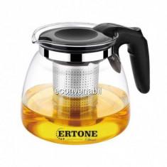 Ceainic cu sita infuzor din Inox si sticla 1100ml Ertone HBH151 MN151