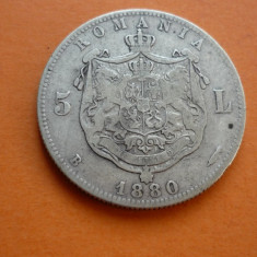 5 LEI 1880 ARGINT *****